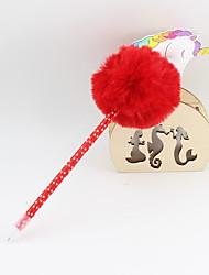 Недорогие -пластик пу единорог волос шарик синий карандаш свинца шариковая ремесло подарки для детей, обучающихся офис канцтовары