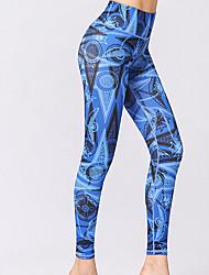 abordables -Femme Pantalon de yoga Bloc de Couleur Elasthanne Course / Running Fitness Entraînement de gym 3/4 Pantacourt Tenues de Sport Séchage rapide Butt Lift Contrôle du Ventre Power Flex Elastique Slim