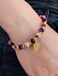 cheap -Women's Bead Bracelet Beaded Weave Stylish Artistic Bohemian Fashion Acrylic Bracelet Jewelry Black / Purple For Gift Prom Festival