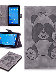 cheap -Amazon with card slot clip-on PU leather fashion panda pattern tablet for Kindle Fire 7 leather case cover