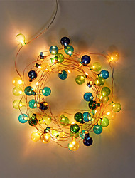 cheap -2m Flexible Plastic Ball LED Light Strips String Lights 20 LEDs Warm White Party Holiday Adorable Batteries Powered 1 set