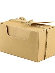 abordables -Rectangulaire Papier Kraft Titulaire de Faveur avec Corde de resserrement Articles ménagers divers / Décoration de maison / Bocaux à Bonbons et Bouteilles - 50 pièces