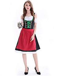 cheap -Women's Beer Festival Oktoberfest Costume Dirndl Set - Geometric, Print Dress