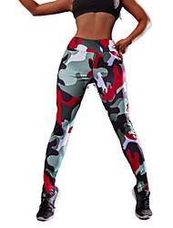 cheap -Women's Yoga Pants Fashion Elastane Running Fitness Gym Workout Tights Leggings Bottoms Activewear Moisture Wicking Butt Lift Tummy Control Power Flex High Elasticity Skinny / Camo / Camouflage