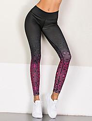cheap -Women's High Rise Yoga Pants Fashion Elastane Running Fitness Tights Activewear Lightweight Soft Butt Lift Tummy Control High Elasticity