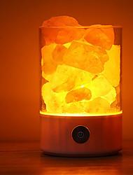 Недорогие -Гималайский соляная лампа украшения свет светодиодный ночник умный ночной свет красочные USB сенсорный датчик украшения атмосфера лампа 5 В 1 шт.