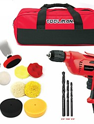 cheap -Toolman 14pcs Electric Power Drill Driver 3/8 with Drill Bit set and Polishing