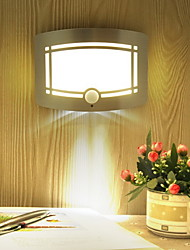 Недорогие -1шт LED Night Light Тёплый белый USB Творчество / Датчик человеческого тела <=36 V