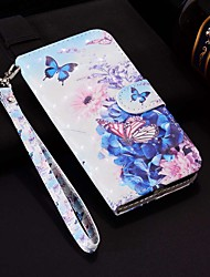 cheap -Case For Samsung Galaxy A6 (2018) / A6+ (2018) / Galaxy A7(2018) Wallet / Card Holder / with Stand Full Body Cases Butterfly / Flower Hard PU Leather