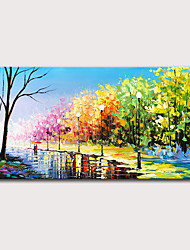 cheap -Oil Painting Hand Painted - Landscape Abstract Landscape Modern Stretched Canvas