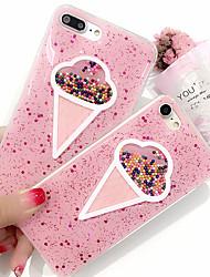 cheap -Case For Apple iPhone X / iPhone 8 Plus / iPhone 8 Glitter Shine Back Cover Cartoon Hard Plastic
