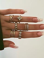 cheap -Ring Gold Alloy 8pcs / Women's / Ring Set
