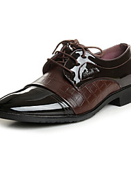 cheap -Men's Comfort Shoes Leather Spring & Summer / Fall & Winter Oxfords Black / Brown / Party & Evening / Party & Evening