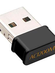 Недорогие -Беспроводная USB 1200 Мбит / с двухдиапазонная 802.11ac USB беспроводная карта