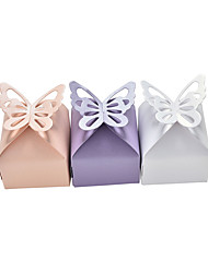 cheap -Cuboid Pearl Paper Favor Holder with Cascading Ruffles Household Sundries / Gift Boxes - 50 pcs