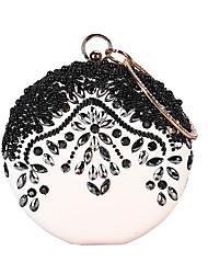 cheap -Women's Beading / Crystals PU(Polyurethane) / PU / Alloy Evening Bag Rhinestone Crystal Evening Bags Black / Fall & Winter