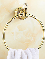 cheap -Towel Bar Creative Brass 1pc towel ring Wall Mounted