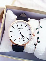 cheap -Women's Quartz Watches Analog Quartz Gift Set Elegant Chronograph Cute Creative / One Year / PU Leather