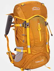 cheap -LONGSINGER 50 L Hiking Backpack Windproof Breathable Rain Waterproof YKK Zipper Outdoor Hiking Nylon Brown / Wear Resistance
