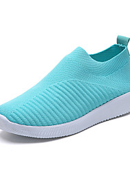 cheap -Women's Flats Creepers Round Toe Tissage Volant Casual Spring &  Fall Black / Light Blue / Pink