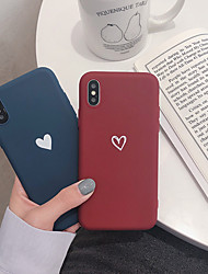 cheap -Case For Apple iPhone XS / iPhone XR / iPhone XS Max Pattern Back Cover Heart Soft TPU