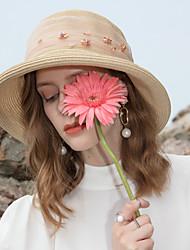 abordables -Tulle / Polyester Chapeaux de paille avec Détail Cristal 1pc Décontracté / Usage quotidien Casque