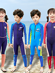 cheap -Boys' Girls' Rash Guard Dive Skin Suit Diving Suit UV Sun Protection Quick Dry Full Body Front Zip - Swimming Diving Patchwork Autumn / Fall Spring Summer / Winter / High Elasticity / Kid's