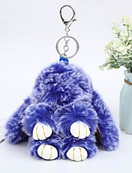 cheap -Keychain Rabbit Animals Casual Fashion Ring Jewelry Purple / Yellow / Blue For Daily Street