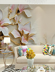 cheap -Pink Magnolia Flower Suitable for TV Background Wall Wallpaper Murals Living Room Cafe Restaurant Bedroom Office XXXL(448*280cm