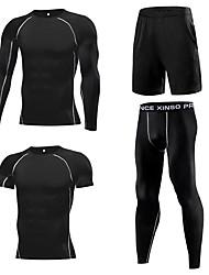 abordables -1bests Homme Elasthanne Survêtement 4pcs Course / Running Fitness Entraînement de gym Poids Léger Respirable Séchage rapide Tenue de sport Grandes Tailles Ensembles de Sport Manches Longues Tenues de