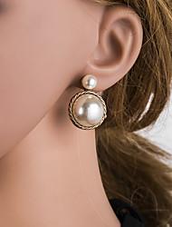 cheap -Women's Gold Drop Earrings Geometrical European Pearl Silver Earrings Jewelry Gold For Daily 1 Pair