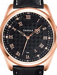 cheap -Men's Dress Watch Quartz Leather Black / Brown Casual Watch Cool Analog Classic Elegant - Black Brown