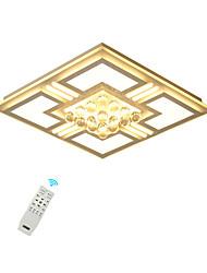 abordables -plafonniers en cristal menés / cadre carré monté affleurant moderne pour blanc / blanc / dimmable de salon de chambre à coucher avec à télécommande