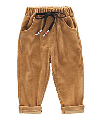 cheap -Kids Boys' Vintage Basic Solid Colored Drawstring Cotton Pants Black