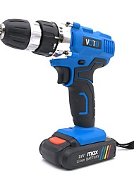 cheap -VOTO 21V Electric Drill Driver Power Tools Dual Speed 1550RPM Cordless Drill Electric Screwdriver Wireless Power Driver