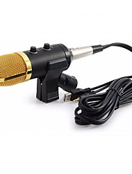 cheap -Wired Microphone USB Condenser Sound Recording Mic with Stand for Chatting Singing Karaoke Laptop