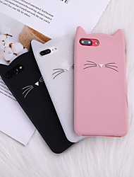 cheap -Case For iPhone 8 Plus Back Case Soft Cover TPU Cat Cat Ear Beard Silicone Soft Following Soft TPU for iPhone X 7 Plus 7 6 Plus 6 8