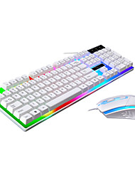 cheap -LITBest USB Wired Mouse Keyboard Combo Color Gradient / Backlit Gaming Keyboard Gaming / Waterproof Gaming Mouse 1600 dpi