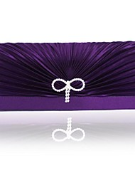 cheap -Women's Bow(s) Silk Evening Bag Solid Color White / Purple