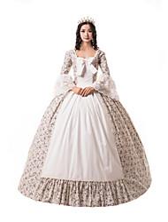 cheap -Princess Maria Antonietta Rococo Victorian Renaissance Dress Party Costume Masquerade Women's Lace Costume Beige Vintage Cosplay Christmas Halloween Party / Evening 3/4 Length Sleeve Floor Length