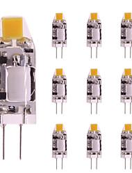 cheap -10pcs 1 W LED Bi-pin Lights 160 lm G4 T 1 LED Beads COB Warm White White 12 V