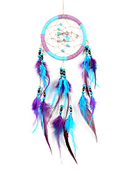 cheap -Boho Dream Catcher Handmade Gift Wall Hanging Decor Art Ornament Craft Bead Feather 11*55cm For Kids Bedroom Wedding Festival