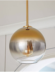 cheap -Modern gradient color glass ball chandelier led E27 parlor bedroom hotel bar decor Hang lamp Silver Gold Diameter 20cm Single Head