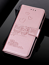 cheap -Case For LG LG V30 / LG K10 2018 / LG K10 (2017) Wallet / Card Holder / with Stand Full Body Cases Animal Hard PU Leather / LG G6