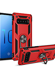 cheap -Case For Apple / Samsung Galaxy iPhone XS / iPhone XR / iPhone XS Max Ring Holder Pouch Bag Solid Colored Hard Rubber