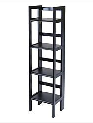 Недорогие -черный 4-х уровневый стеллаж складной стеллаж книжный шкаф для хранения стеллаж башни