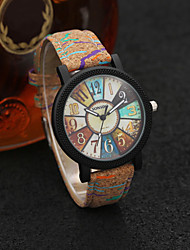 cheap -Couple's Dress Watch Quartz Leather Brown Casual Watch Analog Fashion Colorful - Brown One Year Battery Life / Stainless Steel