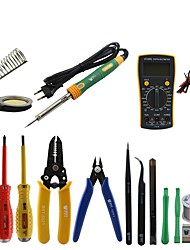 cheap -BST-113 Tools box 16 in 1 Household Professional Tools Screwdrivers Soldering Iron Multimeter Tweezers Repair Tool kit Tool box