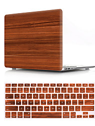 cheap -US Version Wood Grain Pattern Macbook Plastic Hard Case With Keyboard Cover Protective Compatible With New / Old MacBook Air Pro Retina 11/12/13/15 Inch