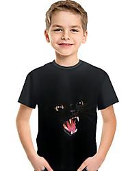 cheap -Kids Toddler Boys' Active Basic Print 3D Animal Print Short Sleeve Tee Black
